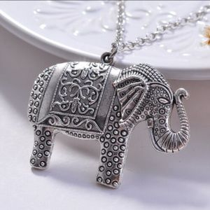 Jewelry - Charm Elephant Pendant Necklace Sweater Chain Lady